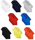 5 Pack Fruit Of The Loom Men's Heavy Cotton T-Shirt Tee Short Sleeve Round Neck