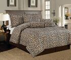 7 PCS Leopard Print Comforter set Micro Fur Twin, Full, Queen, Cal King