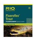 RIO Fluoroflex Tapered Fly Fishing Leaders 9ft 100% Fluorocarbon Invisible