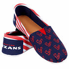 HOUSTON TEXANS WOMENS STRIPE CANVAS SHOES  NEW STYLE FOR 2016 CHOOSE SIZE