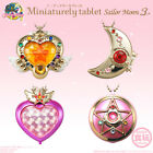 4PCS Sailor Moon Miniaturely Tablet 3 Pill Case Compact Key Chain Bandai