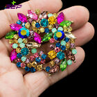 Rhinestone Crystals Brooches Broach Pins Gifts Women Jewelry Accessories 6582