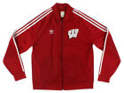 Adidas Mens Legacy Track Jacket University of Wisconsin Red