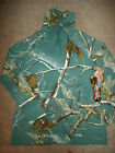 Realtree CAMO Size: S M Thermal Funnel Neck Shirt Teal Long Sleeve