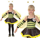 Childrens Bumble Bee Fancy Dress Costume Wasp Insect Outfit 3-10 Yrs