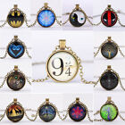 Vintage Cartoon Movie Theme Harry Potter Fashion Necklace Time Gem Pendant CA