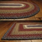 Americana Cotton Braided Area Rugs Oval Rectangle 20x30 - 8x10 Log Cabin Step