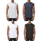 1 PROCLUB HEAVYWEIGHT SLEEVELESS T-SHIRT Mens Plain Muscle Blank Tank Top M- 7XL image