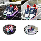 KIDS INFANTS LIGHT UP LED LUMINOUS LACE UP TRAINERS CELEB SNEAKERS SHOES Star