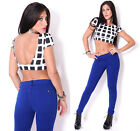 Sexy Women's Summer Open Back Checkered Print Bustier Crop Top Shirt USA Seller