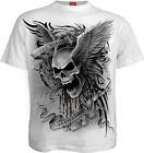 Spiral Direct ASCENSION, Casual T-Shirt White Great Quality|Skulls|Wings|Tribal