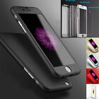 New Hybrid 360° Hard Ultra thin Case + Tempered Glass Cover For Phone 6 6S Plus