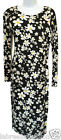 Ladies Women's daisy floral print long sleeve bodycon dress