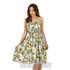 Ladies Tropical Print Strappy Sundress Sleeveless Summer Beach Dress Size 8 - 22