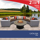 Catalina 6 Piece Outdoor Wicker Patio Furniture Set 06a 2 for 1