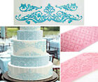 Large Grid or Ornament LACE Silicone MOULD Tier Cake Decoration Fondant Wedding