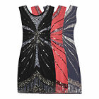 1920's Vtg Flapper Downton Gatsby Charleston Embellished Sequin Dress New 8 - 16