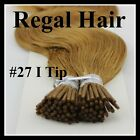 """18""""STICK TIP 1G #27 UK DELIVERY-HUMAN HAIR EXTENSIONS 5Agrade 100G"""
