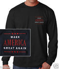 MAKE AMERICA GREAT AGAIN, TRUMP, BLACK LONG SLEEVE  EMBROIDERED T-SHIRT image
