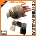 Womens Ladies Furry Gloves Mittens Arm Warmers All Colours