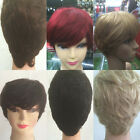 Women Short Full Lace Wigs Wavy Human Hair Extension Hairpiece 80gr