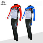 SOBIKE Cycling Suits Bike Riding Long Sleeve & Tights Pants Blue Red