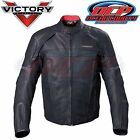 NEW VICTORY MOTORCYCLES MEN'S BLACK LEATHER WATERPROOF CANYON JACKET (S-5XL)