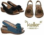 WOMENS LADIES SLINGBACK VELCRO WIDE FIT MID WEDGE HEEL FLAT SUMMER SANDALS UK4-8