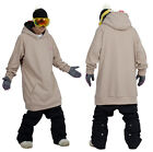 December long tall hoodie ski snowboard sports-melange beige