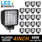 20X 48W Flood LED Work Light Bar 3D Lens Driving DRL SUV 4WD Boat Truck Offroad