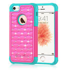 Hybrid Shockproof Crystal Rugged Armor Case Cover For Apple iPhone 5 5S SE Phone