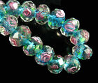 20Pcs Lampwork Glass Charms Flower Findings Loose Beads DIY Jewelry 8 10 12mm