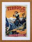 VINTAGE AD TRANSPORT TERROT CYCLES MOTOCYCLES FRANCE FRAMED PRINT F97X6527