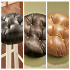 FAUX LEATHER BAR KITCHEN STOOL COVER BLACK BROWN OR CAMEL HOME DECOR