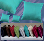 "Pack Of  4 18""x""18 Inches Faux Silk Plain Square Cushion covers"