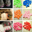 40PCS/SET Soft Pet Nail Caps Cat Claw Control Paws off Adhesive Glue Six Size AU
