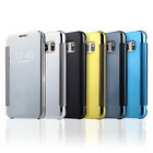 Mirror Smart View Magnetic Flip Case Cover For Samsung Galaxy S6 Edge & S7 Edge