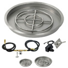 American Fireglass Round Fire Pit Kit w/ Burner Spark Ignition NG or LP 19