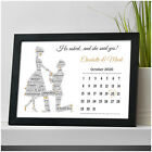 Personalised Engagement Gift Present Date of Engagement Calendar Couples Gifts