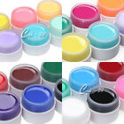 6 Colours Solid Pure UV Gel Nail Art Kit Tips Builder Gel Set Extension Manicure
