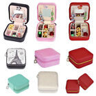 1pc Travel Portable Zip Box Leather Jewelry Ring Display Organizer Holder Case