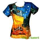 VINCENT VAN GOGH Cafe Terrace at Night T SHIRT MODERN FINE ART PRINT PAINTING