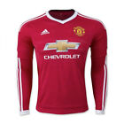 adidas Men's Manchester United 15/16 Longsleeve Home Jersey Risk Red/Wht AC1416