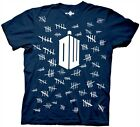 Doctor Who Tally Marks Adult T Shirt Sci Fi T.V. Show BBC Dr. Dr ** LAST ONE **