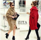 New Women Girls Loose Knitted Sweater Batwing Sleeve Tops Cardigan Outwear S19