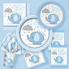 Baby Boy ELEFANTI CON OMBRELLINO Blu Festa Shower Party Forniture