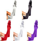 Long Satin Stretch Gloves Above Elbow Bridal Prom Wedding Formal Party Gloves US