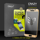 3D Full Coverage 9H Tempered Glass Screen Protector for Galaxy S6 S7 Edge Plus
