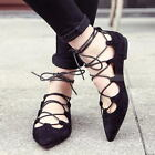 Womens Pointed Toe Sexy Roman Cross Strap Platform Wedge Casual Shoes