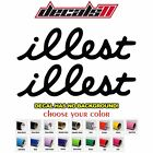 2x ilIest Vinyl Decal Window Car Sticker JDM Stance Hellaflush TRD